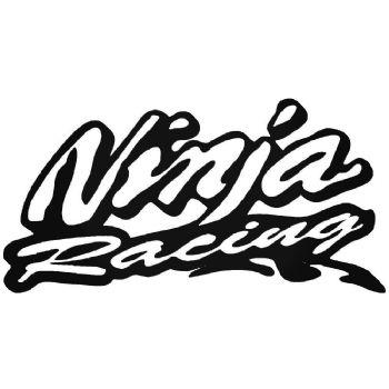2x Ninja Racing Stickers Car Motorbike Vinyl Decals